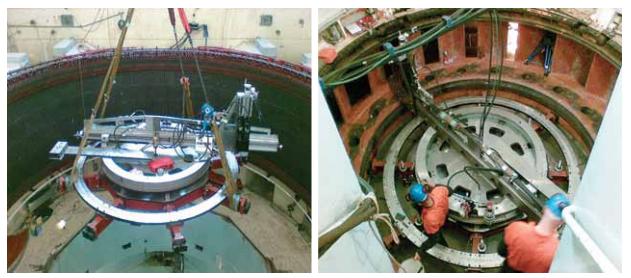 Установка мобильного станка для ремонта блока гидростанции