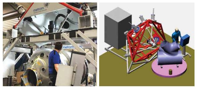5-осевая обработка цистерны и фланцев на мобильных станках METROM