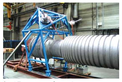 Использование мобильного 5-осевого станка METROM для ремонта газовой турбины
